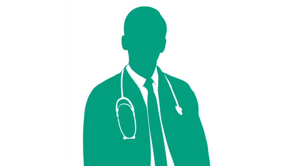 Image of a male doctor silhouette